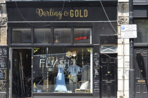 Darling & Gold Shoreditch Shop Front