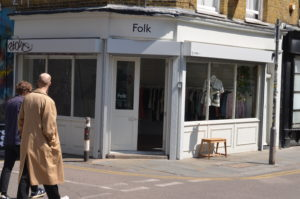 Front of Folk Shop Front Shoreditch