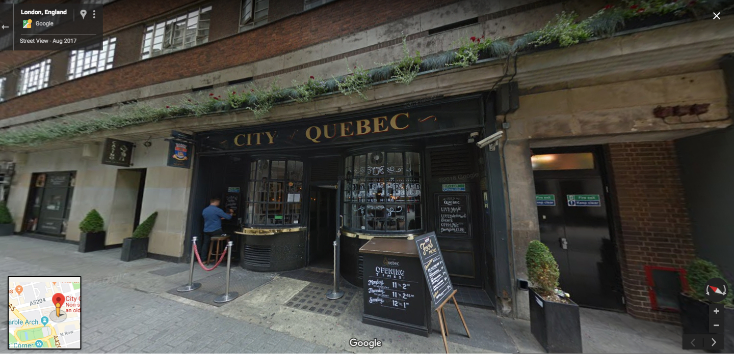 City of Quebec Pub Exterior