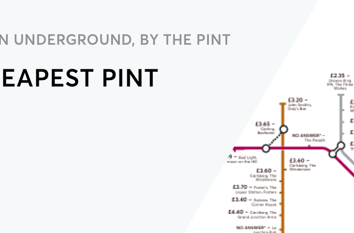 Thirsty? Here's a Map of London Underground by the Cheapest Pint