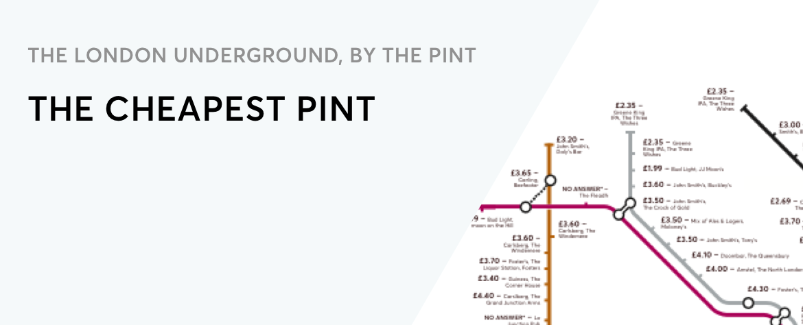 Thirsty Here S A Map Of London Underground By The