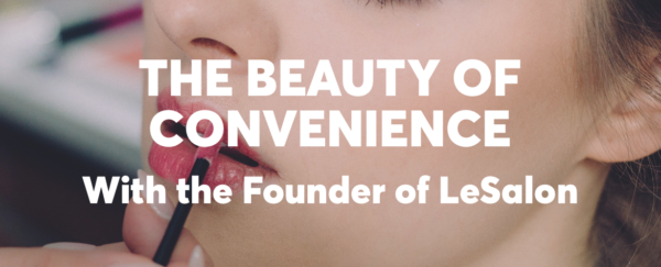 The beauty of convenience girl with lipstick