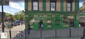 Salmon and Ball pub Bethnal Green street view