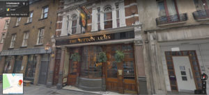 The Sutton Arms pub near the Barbican Street View Screenshot