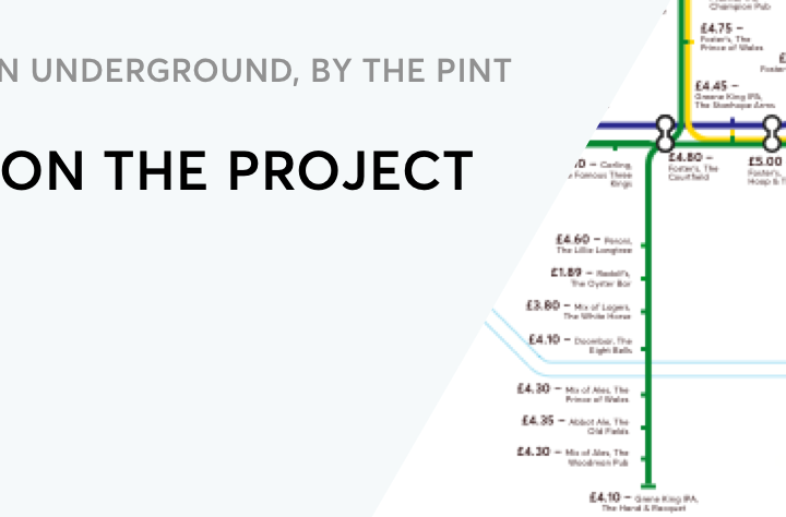 The London Underground, by the Pint, Notes on the Project