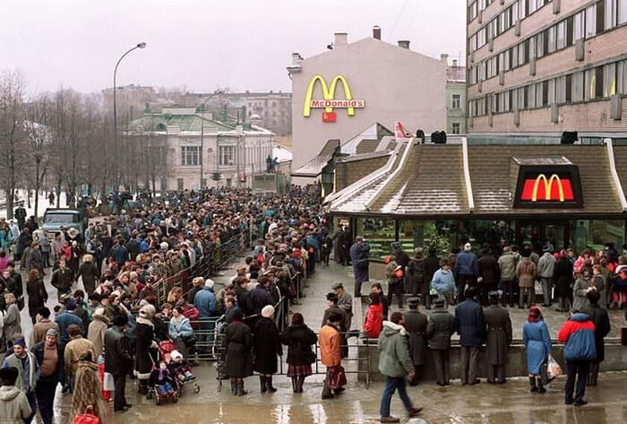 queue for mcdonalds