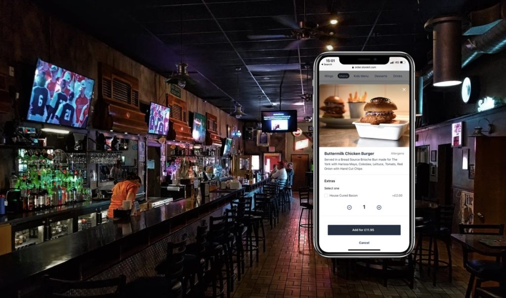 Order and Pay in a bar